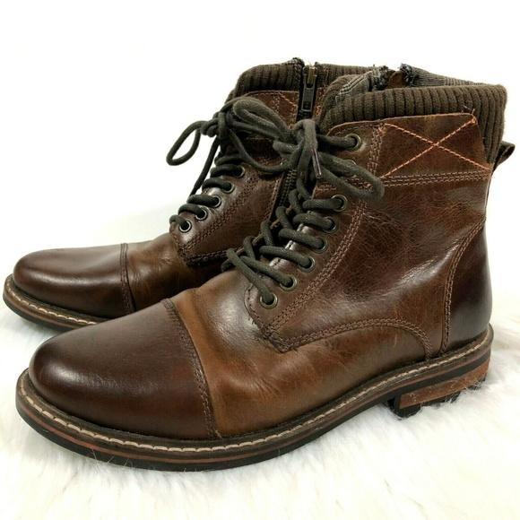 d57ab3e5dba Crevo Memory Foam Camden 225 Leather Boot Chestnut